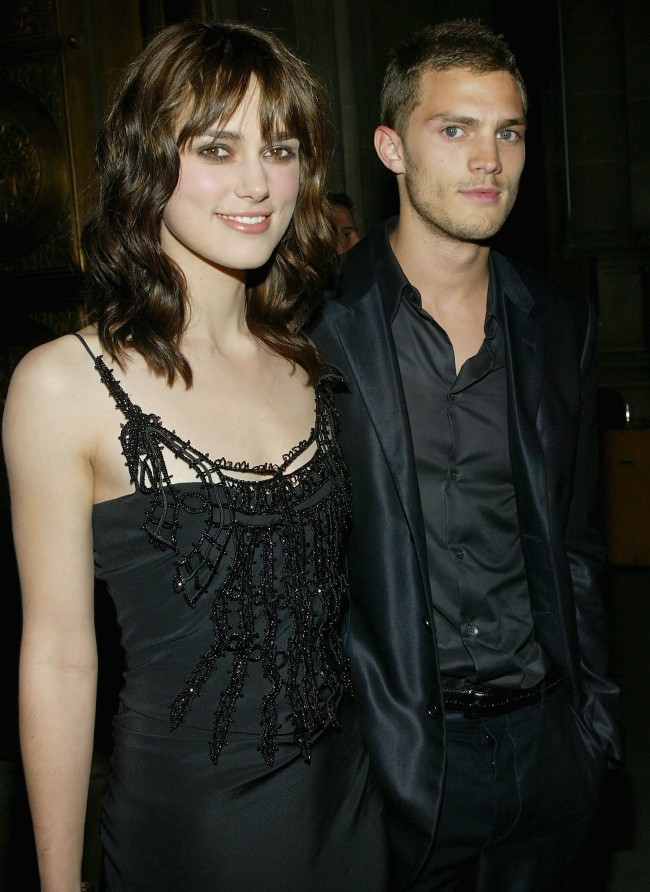 NEW YORK - JUNE 28: (U.S. TABS AND HOLLYWOOD REPORTER OUT) Actress Keira Knightley and boyfriend Jamie Dornan attend the 'King Arthur' world premiere after-party at The Cathedral Church of St. John The Divine, June 28, 2004 in New York City.