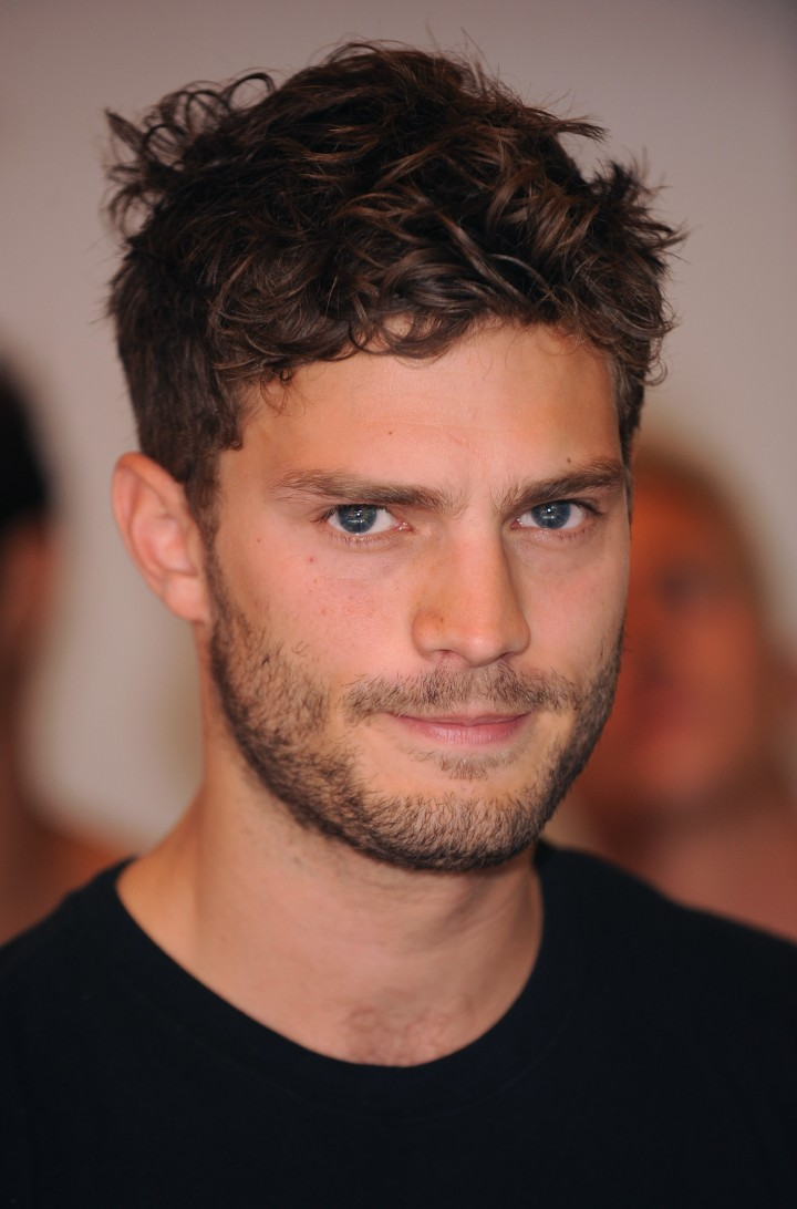 LONDON, ENGLAND - SEPTEMBER 05: Jamie Dornan attends the '9 Countries, 9 men, 1 Winner' Calvin Klein Photocall at House of Fraser, Oxford Street on September 5, 2009 in London, England. (Photo by)