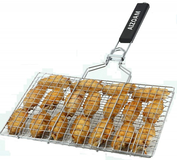 AIZOAM Stainless Steel BBQ Grilling Basket