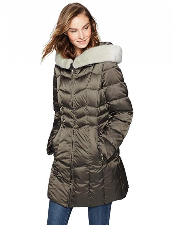 Haven Outerwear Chevron Puffer Coat