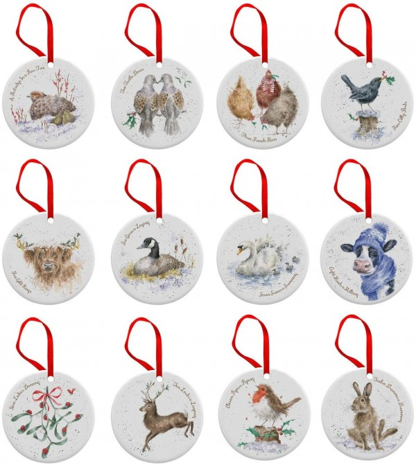 Wrendale 12 Days of Christmas Decorations