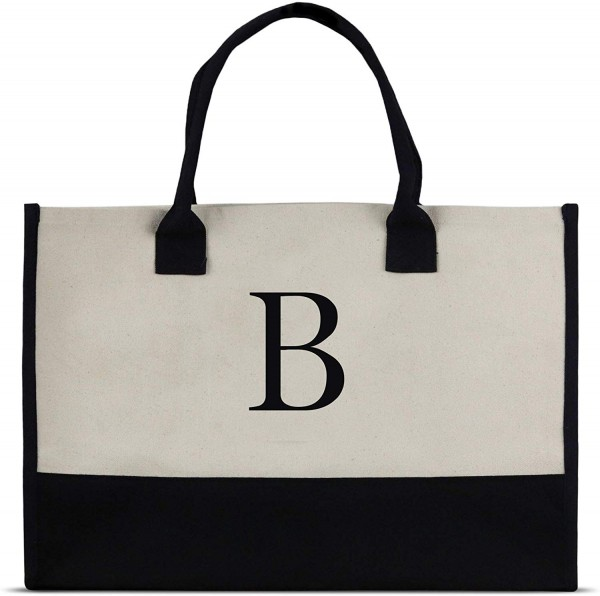 Monogram Tote Bag with 100% Cotton Canvas and a Chic Personalized Monogram