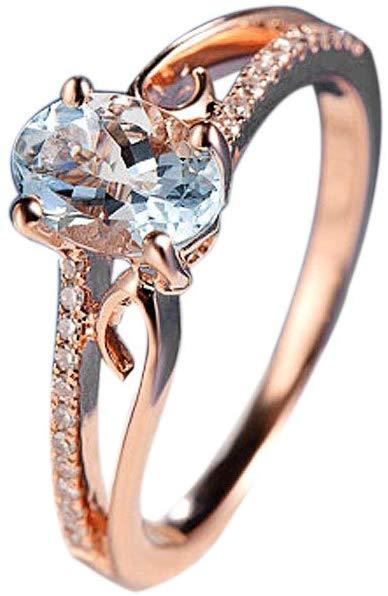 Goddesslili Classic White Oval Diamond Rings for Women