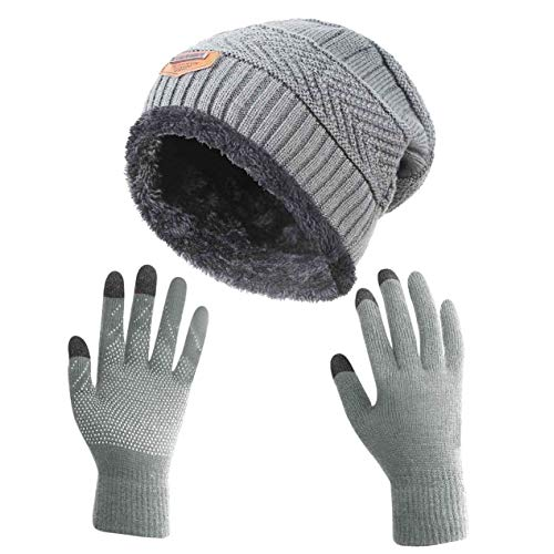 HINDAWI Winter Slouchy Beanie and Gloves for Women