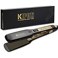 KIPOZI Hair Straightener 2 in 1 Straightener and Curling Iron