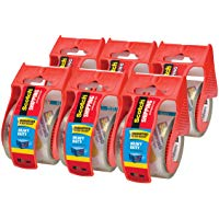 Scoth Heavy Duty Shipping Packaging Tape 6 Rolls Dispenser