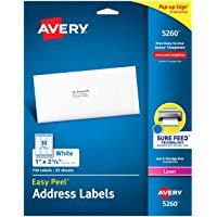 Avery Mailing Address Labels Laser Printer 750 Labels