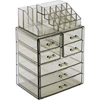 Sorbus Acrylic Cosmetic Makeup and Jewelry Storage Case