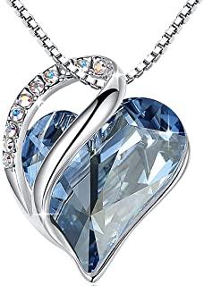 Leafael Infinity Love Heart Pendant Necklace