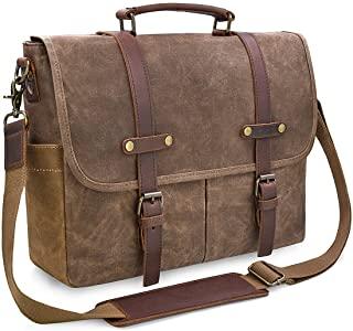 Men's Messenger Bag Waterproof Vintage Genuine Leather