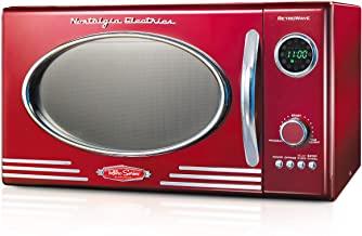 Nostalgia Retro Large 800-Watt Countertop Microwave Oven