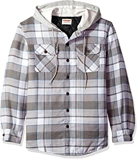 Wrangler Authentic Men's Long Sleeve Quilted Line Flannel Jacket