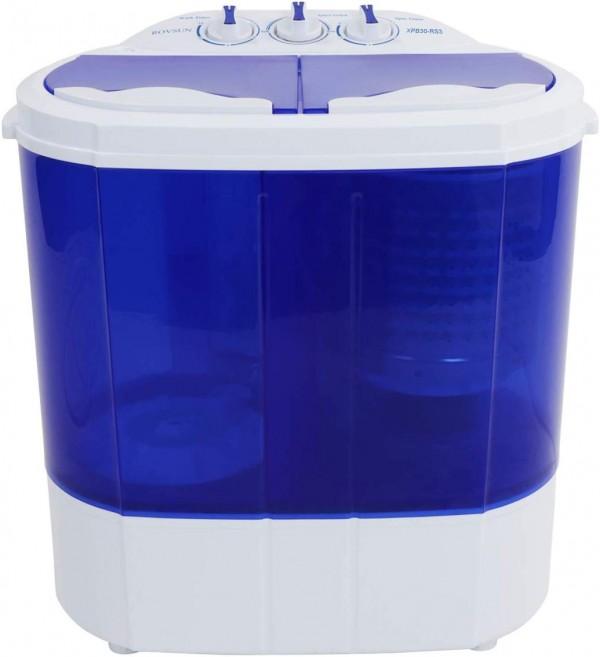 ROVSUN 10 LBS Portable Washing Machine with Twin Tub Electric Compact Mini Washer