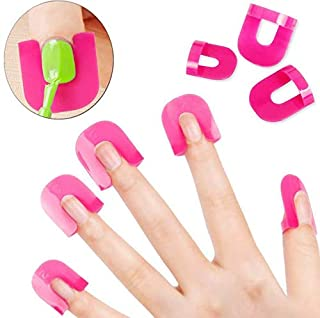 Reusable Soft Plastic Nail Polish Stencil,Spill Proof Manicure Protector Tools