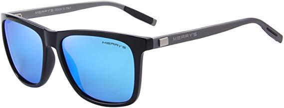 MERRY'S Unisex Polarized Aluminum Sunglasses Vintage Sun Glasses For Men/Women