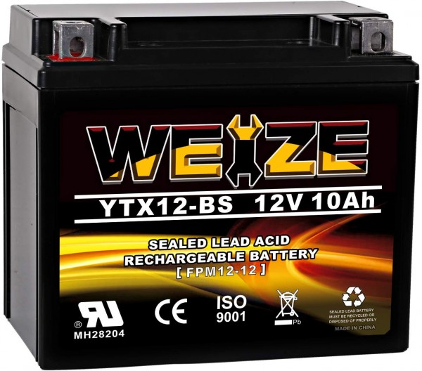Weize YTX12-BS Motorcycle Battery High Performance