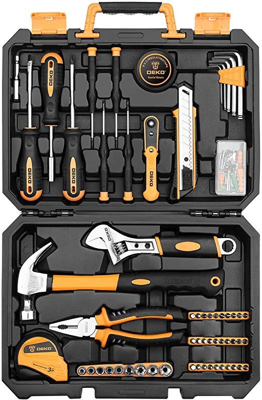 DEKOPRO 100 Piece Home Repair Tool Set