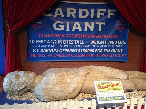 The Cardiff Giant at the Farmers' Museum