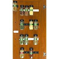 SimpleHouseware 30-Spice Gripper Clips Strips Cabinet Holder