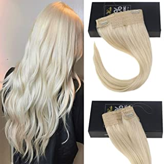 Sunny 18-inch Platinum Blonde Halo Hair Extensions