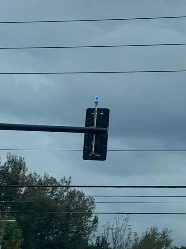Blue Traffic Light