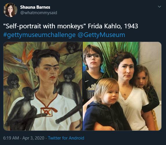 Self-portrait with monkeys