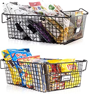 Gorgeous Stackable XXL Wire Baskets for Pantry Storage and Organization