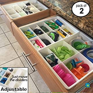 Uncluttered Designs Adjustable Drawers Dividers