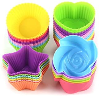 LetGoShop Silicone Cupcake Liners Reusable Baking Cups