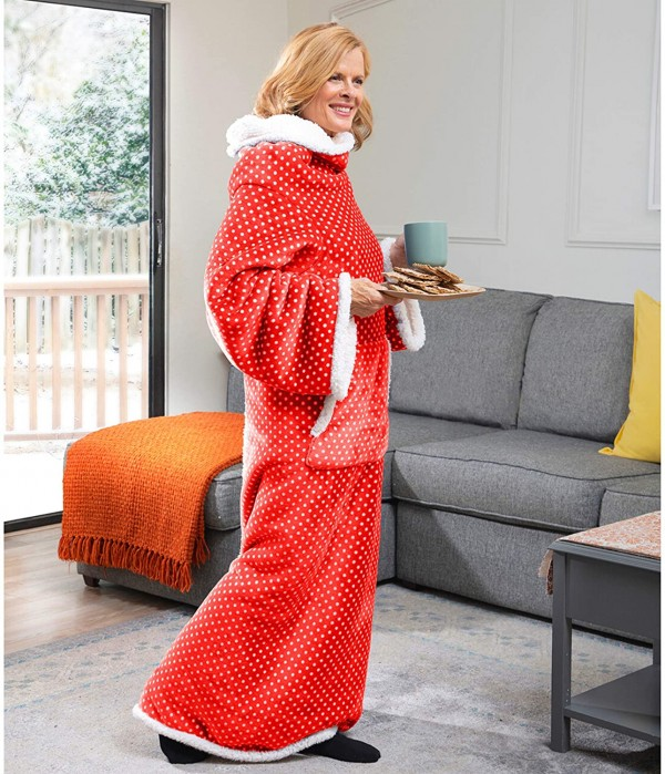 CozyRosie Wearable Blanket with Sleeves for Adults