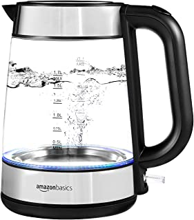 AmazonBasics Electric Glass and Steel Kettle