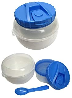 The Breakfast Bucket: Travelable Cereal and Milk Container with Spoon