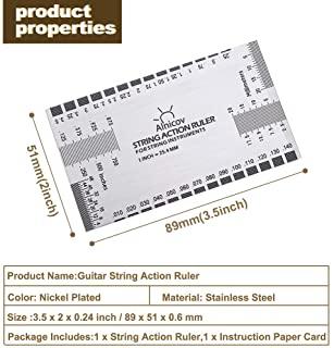 Alnicov Stainless Steel String Action Ruler Guitar Setup