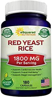 Red Yeast Rice 1800mg Dietary Supplement Vegan Powder Pills