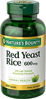 Nature's Bounty Red Yeast Rice Pills and Herbal Health Supplement