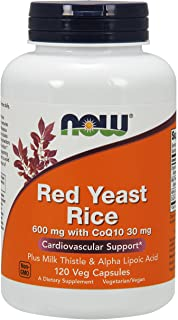NOW Supplements Red Yeast Rice with COQ10 Plus Milk Thistle and Alpha Lipoic Acid