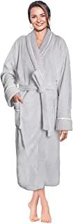 Deluxe Women Fleece Robe Satin Trim
