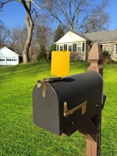 Mail Time! Yellow Mailbox Alert Signal Flag