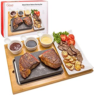 Cooking Stone Complete Set Lava Hot Steak Stone Plate
