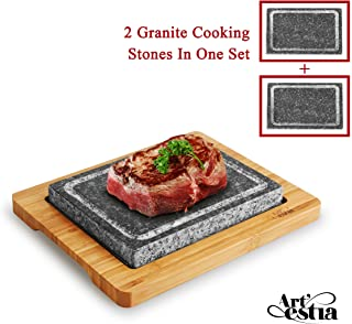 Artestia Double Cooking Stones in One Sizzling Hot Stone Set
