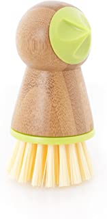 Full Circle Tater Mate Bamboo Potato Brush with Eye Remover