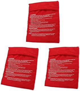 KISEER 3 Pack Reusable Microwave Potato Bag Baked