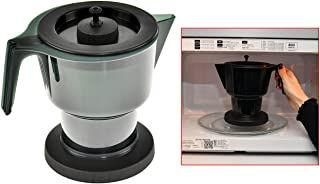 HOME-X Microwave Tea Kettle with Lid and Insert