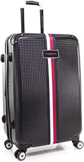 Tommy Hilfiger Basketweave Hardside Spinner Luggage Black