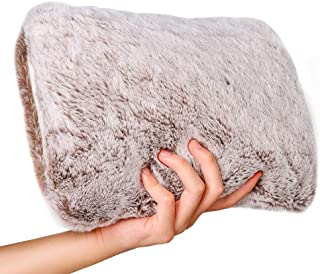 Hot Water Bottle with Soft Fleece Cover Warming Hand and Relieve Menstrual Cramps