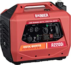 Rainier R2200i Super Quiet Portable Power Station Outdoor Inverter Generator
