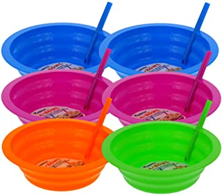 Arrow Sip-A-Bowl with Built-In Straw 22oz 6-Piece Set
