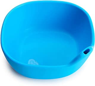 Munchkin Last Drop Silicone Toddler Bowl with Built-In Straw