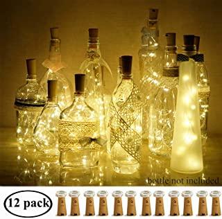 Decem Wine Bottle Lights with Cork 12 Pcs 15 LEDs