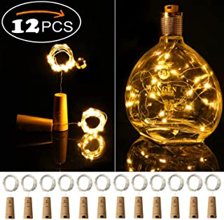 Ehome Wine Bottle Lights with Cork 12 Pack Starry Fairy Lights